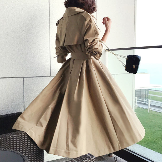 아카디아(london pleats long trench*CT)